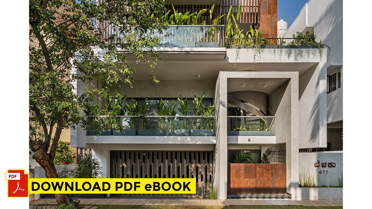 2400 sq.ft Compact Home in Bengaluru | Belaku Residence by Techno Architecture