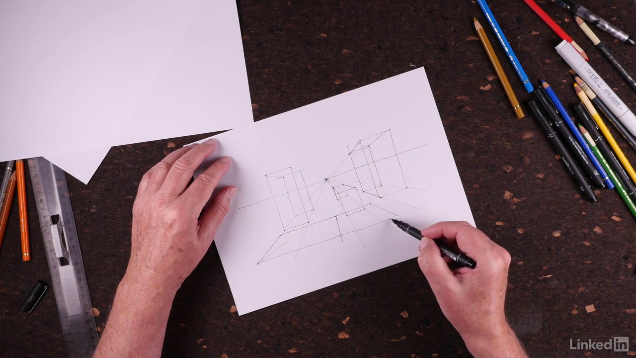 Tutoriel Architecture Dessin : Maîtriser le jeu des volumes | video2brain.com